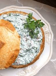 easy cold spinach dip with cream cheese