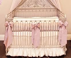 orchid lilac silk crib bedding set