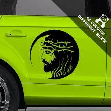 Jesus Car Decal Christ Truck Or Bumper Vinyl Sticker Etsy