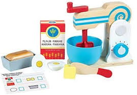melissa doug wooden mixer toy