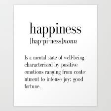 happiness definition college