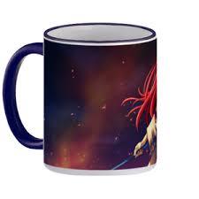 jual mug fairy tail erza scarlet mug gagang warna premium
