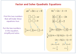 factoring solving quadratic equations