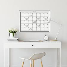 Wall Pops 17 5 In X 24 In Dry Erase Monthly Calendar Wall Decal Wpe94575 The Home Depot