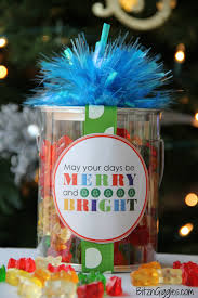 merry bright label bitz