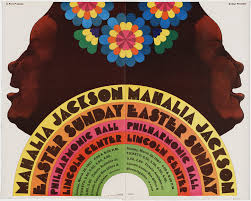Milton Glaser. Mahalia Jackson (Poster for an Easter Sunday ...