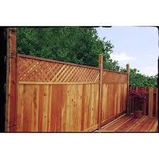 Top Choice 6 Ft H X 8 Ft W Natural Redwood Lattice Top Wood Fence Panel Lowes Com In 2020 Wood Fence Fence Panels Privacy Fence Panels