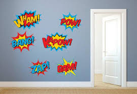 Superhero Wall Decals Superhero Decal Set Superhero Fabric Etsy