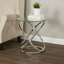 coffee table decore clear glass round