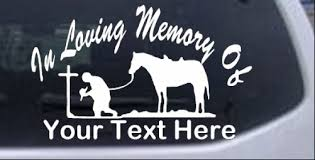 In Memory Of Cowboy At Cross Car Or Truck Window Decal Sticker Rad Dezigns