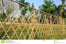 Bamboo Garden Fence Stock Image Image Of Structure Tree 48318025