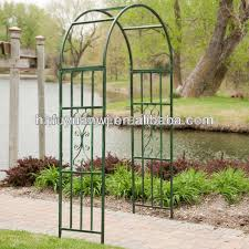 pvc coated garden arch wrought iron
