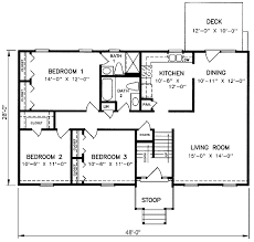 1970s split level house plans split