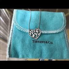 tiffany co olive leaf heart pendant