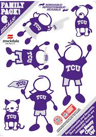 Tcu Horned Frogs 5x7 Family Pack Auto Decal Purple 16370135