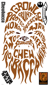 Star Wars Typographic Chewbacca Giant Wall Decals Us Wall Decor