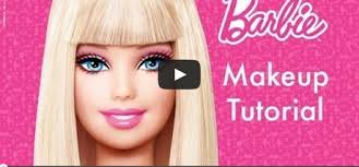 barbie makeup tutorial for children