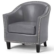 kildare faux leather accent chair