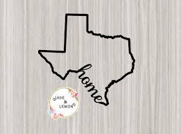 Texas Home Vinyl Decal Rio Grande Outline Of State Texas Etsy