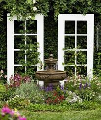 french doors as a trellis for vines