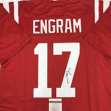 Signed Evan Engram Jersey - Red College ...
