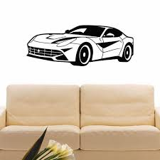 Shop Racing Car Wall Art Decal Sticker Overstock 11179128