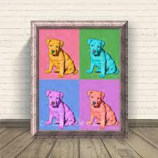 Puppy Pop Art Print Kids Room Decor Nursery Decor Wall Art Pop Etsy