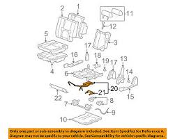 gm oem rear seat release cable 20963267