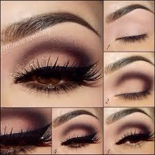 cute brown eye makeup pictorials by