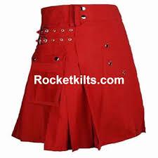 highland scottish utility red kilt men