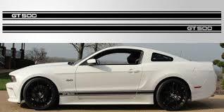 Mustang Gt 500 Triple Stripe Vinyl Decal Stripe Garage