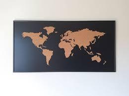 Cork Board World Map On Behance Cork World Map Cork Board Map