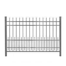Aleko London Style 5 Ft X 8 Ft Black Iron Fence Panel Fencelon Hd The Home Depot In 2020 Aluminum Fence Steel Fence Panels Iron Fence