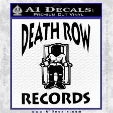 Death Row Records Decal Sticker A1 Decals
