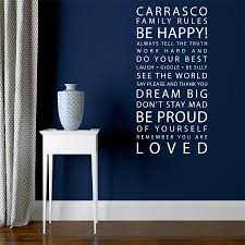 Family Rules Wall Sticker Decal Snuggledust Studios Independence