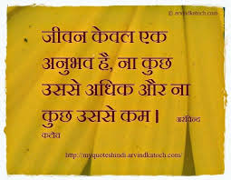 my hindi quote life is an experience hindithought hindiquote