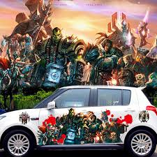 2pcs 3d Waterproof Printing Car Body Decals Car Spray Paint Warcraft Stickers Alliance Game Poster Animation Sticker Cns174 Warcraft Sticker Car Spray Paintdecals Car Aliexpress
