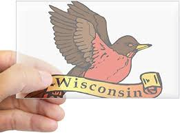 Amazon Com Cafepress Robin State Bird Of Wisconsin Sticker Rectangul Rectangle Bumper Sticker Car Decal Home Kitchen