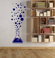 Vinyl Wall Decal Chemistry Test Tube Science Scientist Bubbles Adhesive Education Subject