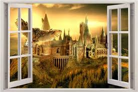 Hogwarts Harry Potter 3d Window View Decal Graphic Wall Sticker Art Mural H321 Ebay