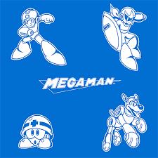 Mega Man Car Decal Set