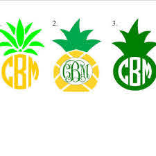 Pineapple Personalized Monogram Decal From Anearringandframe On