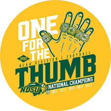 Decal One For The Thumb Ndsu Bison Football Bison Football National Championship