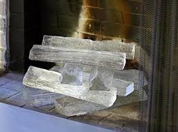 glass fireplace logs by jeff benroth