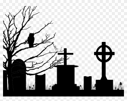 Drawn Cemetery Halloween Cemetery Png Free Transparent Png Clipart Images Download