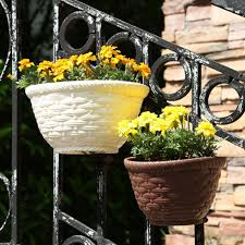 Creative Patio Balcony Fence Garden Planter Wall Hanging Plant Container Flower Pot Lazada Ph