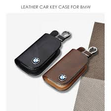 bmw mercedes benz leather keychain key