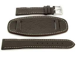 watch strap with pad monte dark brown