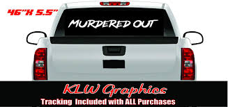 Amazon Com Murdered Out Banner Shitbox Stickers Turbo Diesel Truck Off Road Black Blacked Out Automotive
