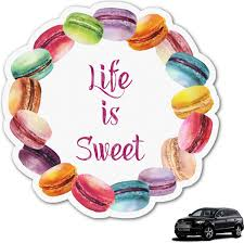 Amazon Com Rnk Shops Macarons Graphic Car Decal Personalized Automotive